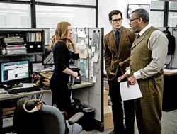 Amy Adams, Henry Cavill, and Laurence Fishburne in 'Batman v Superman: Dawn of Justice'
