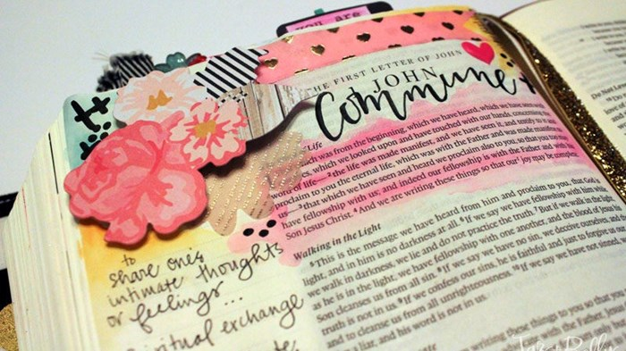 Bible Study Meets Crafting: The Bible Journaling Craze