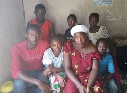 Martina Kurah and six of her children