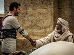 Jack Huston and Morgan Freeman in 'Ben-Hur'