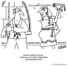Church Conflict Gets Weird