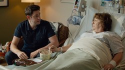 John Krasinski and Margo Martindale in 'The Hollars'