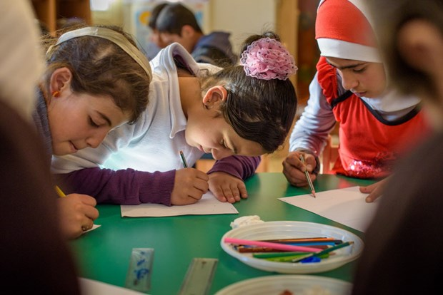 One of World Vision's Child Friendly Spaces in the Bekaa.