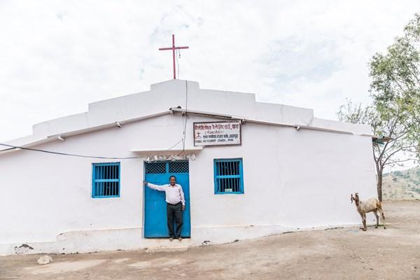 Pastor Bhagwana Lal and his rural Rajasthan megachurch.