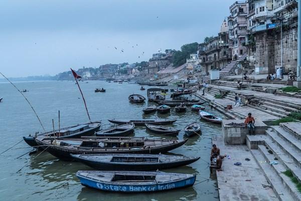 The famous ghats of Varanasi.