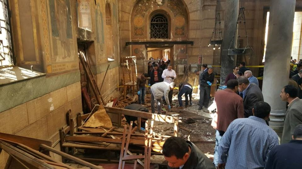 Aftermath of Cairo church bombing.