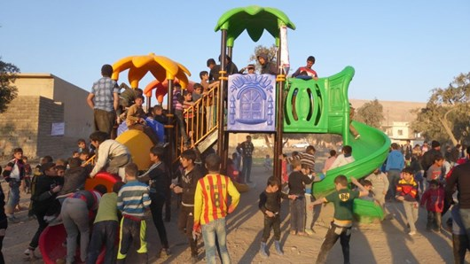 Last month, FBR built this playground in a newly-liberated town close to Mosul in honor of a family killed by friendly fire from the Iraqi army.