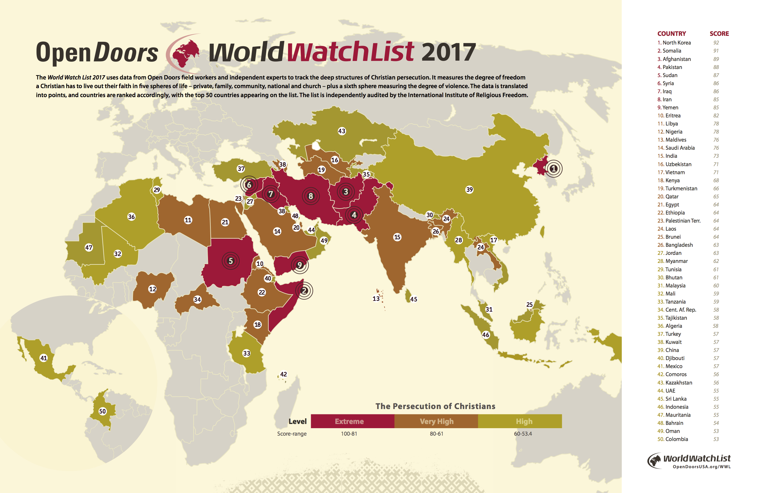 u0027Worst Year Yetu0027 The Top 50 Countries Where Itu0027s Hardest ...... | News u0026 Reporting | Christianity Today  sc 1 st  Christianity Today : open doors 2017 - pezcame.com