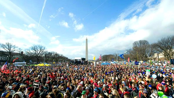 What Both DC Marches Agree On: Abortions Haven't Been This Rare Since Roe v. Wade