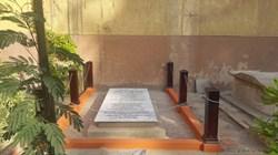 The recently renovated gravesite of William Borden.