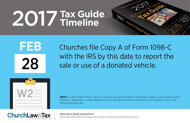 Tax Guide Reminder: February 2017