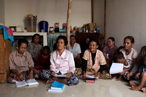 """Once residents of Phnom Penh, these families were forced to move to a government housing resettlement called Andong Village once their homes were seized in """"land grabs"""" to make room for urban development."""