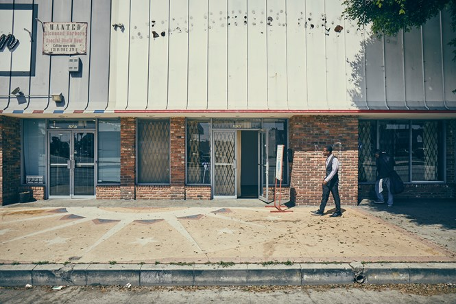 Mario Salamanca's church meets in an unmarked storefront in Compton, California.