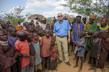 Richard Stearns in Kenya's Turkana region.