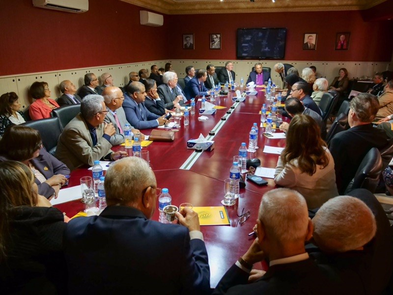 Egyptian Protestant leader Andrea Zaki hosts a meeting with scores of local church leaders.