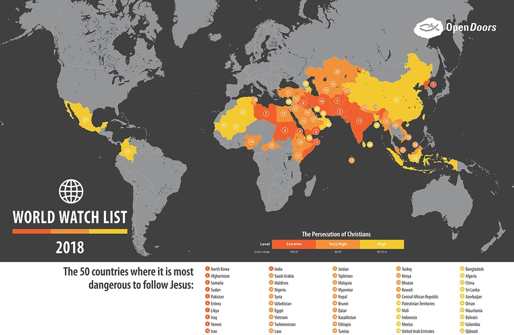 The top 50 countries where its most dangerous to follow jesus the top 50 countries where its most dangerous to follow jesus gumiabroncs Images