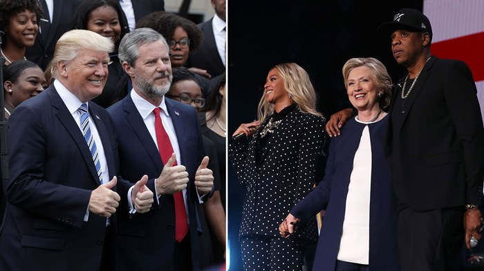 The 10 Celebrities Evangelicals Trust Most and Least on Politics