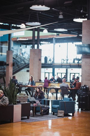 "Church leaders want to see Christians bring together their spiritual lives and their ""normal lives,"" so Crossroads Oakley opens up its atrium as a coworking space during the week."