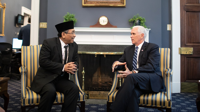 Pence Meets Indonesia's Top Muslim Leader After Church Attacks
