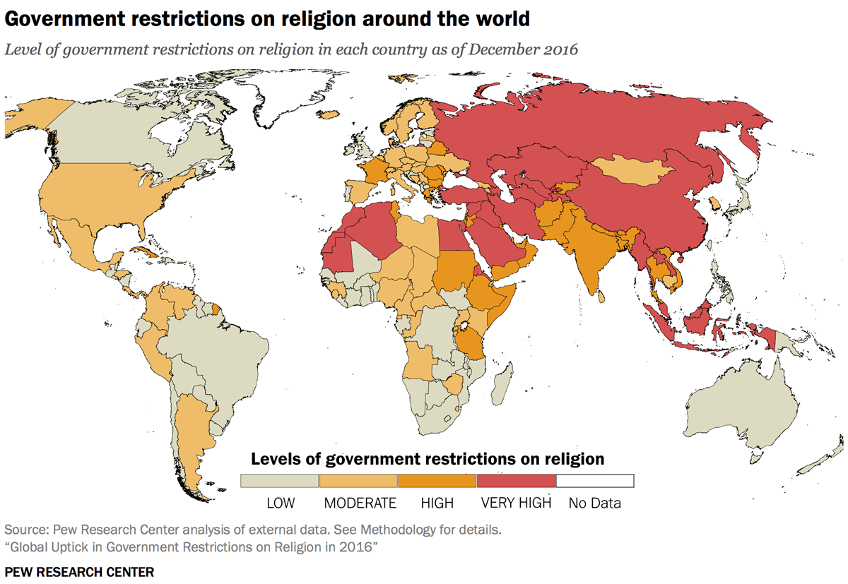 Religious Map Of Asia.Global Religious Freedom Takes Its Biggest Hit In Over A D