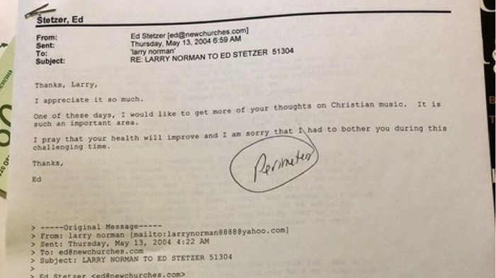 A Fascinating Lost Email from Larry Norman on Music and Ministry