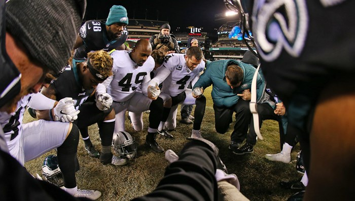 The Philadelphia Eagles Get the 'God Squad' Treatment