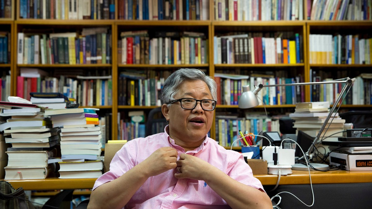 Pastor Ezra Jin of Beijing's Zion Church, during an August 2018 interview with the Associated Press.