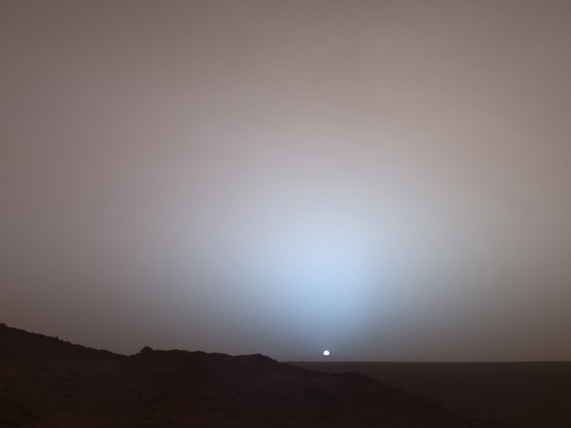 Mars at Sunset