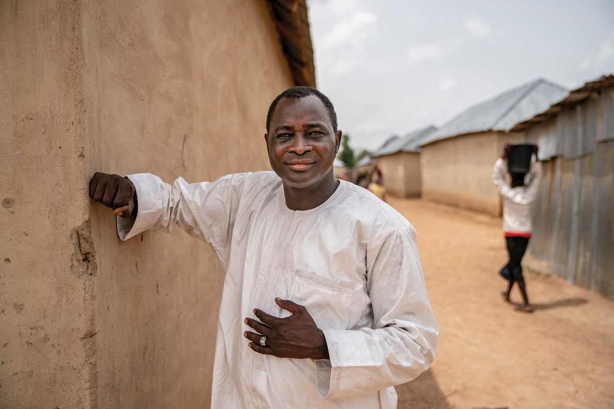 """Markus Gamache, a Christian convert with a Muslim family, founded a successful interfaith IDP camp (above) because """"you can't preach to someone two kilometers away—even if you shout."""" He also has a camp for Brethren families (below)."""