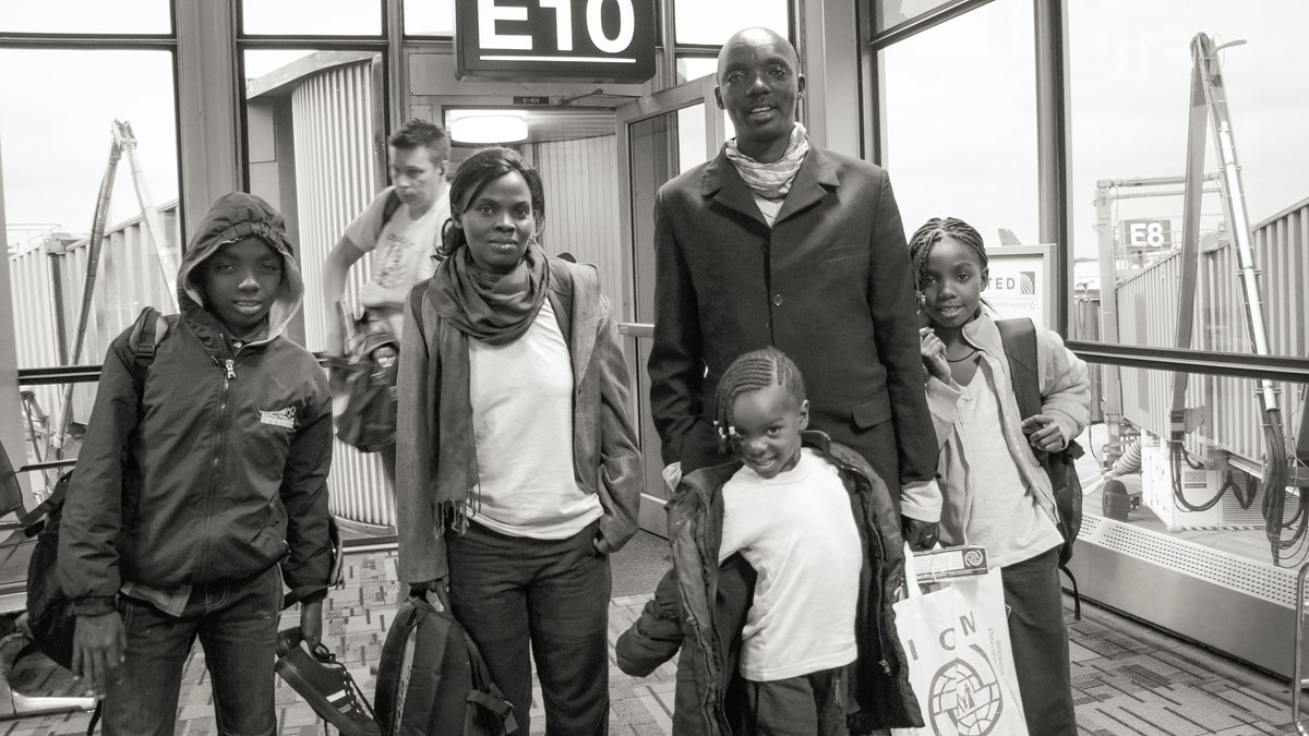 The Gateras arrived at the Minneapolis airport in 2016, when they were resettled in the US after 20 years of waiting in Kakuma.