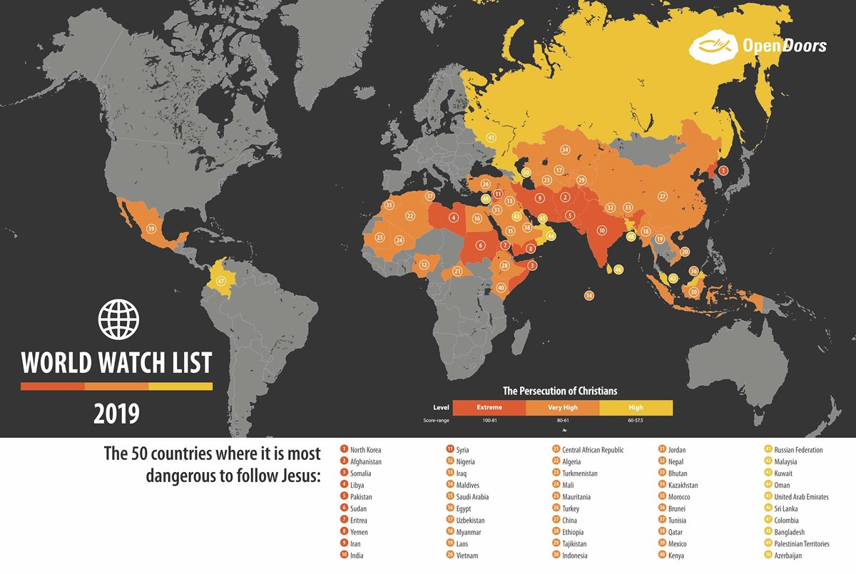 The Top 50 Countries Where It\'s Most Dangerous to Follow J ...