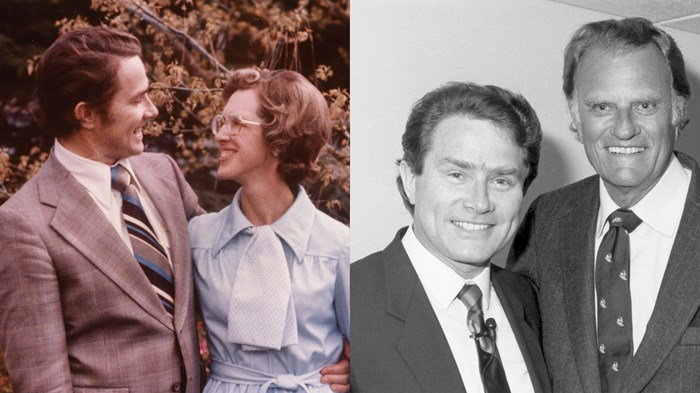 Luis Palau credits his wife Pat (pictured on the left) and Billy Graham (pictured on the right) as the most influential people in his life.