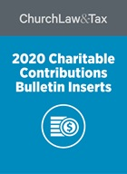 Charitable Contributions Bulletin Inserts