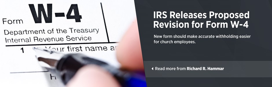 IRS Releases Proposed Revision for Form W-4 for 2020