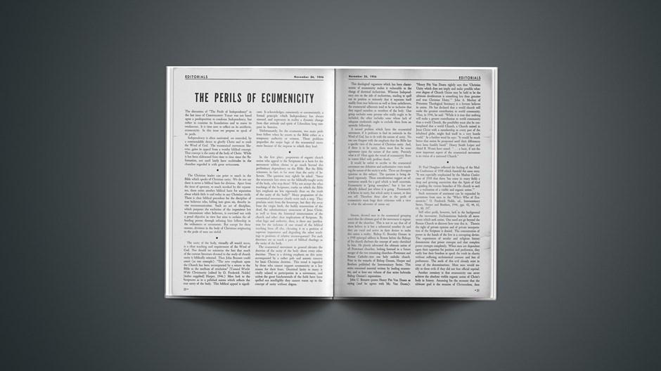 The Perils of Ecumenicity