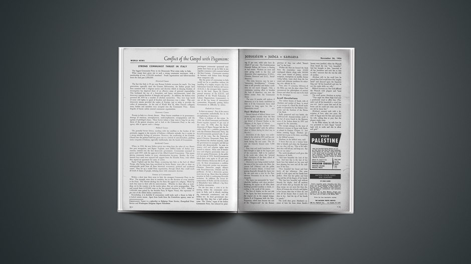 News Report: Conflict of the Gospel with Paganism, November 26, 1956