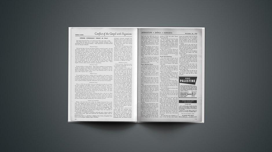 Jerusalem + Judea + Samaria News: November 26, 1956