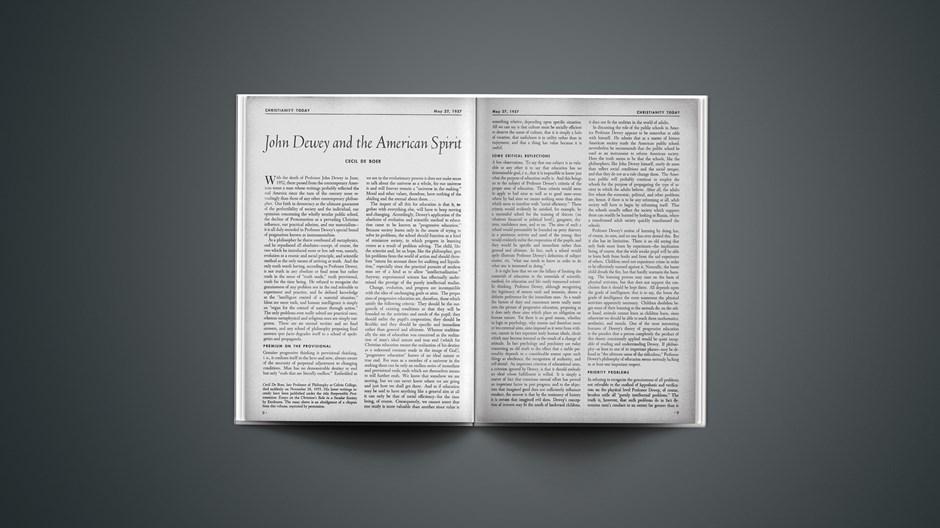 John Dewey and the American Spirit