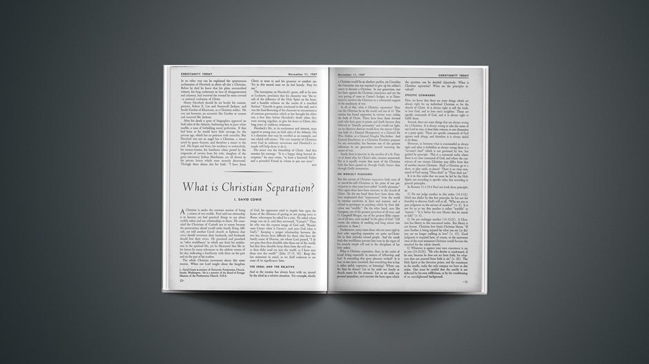 What Is Christian Separation?