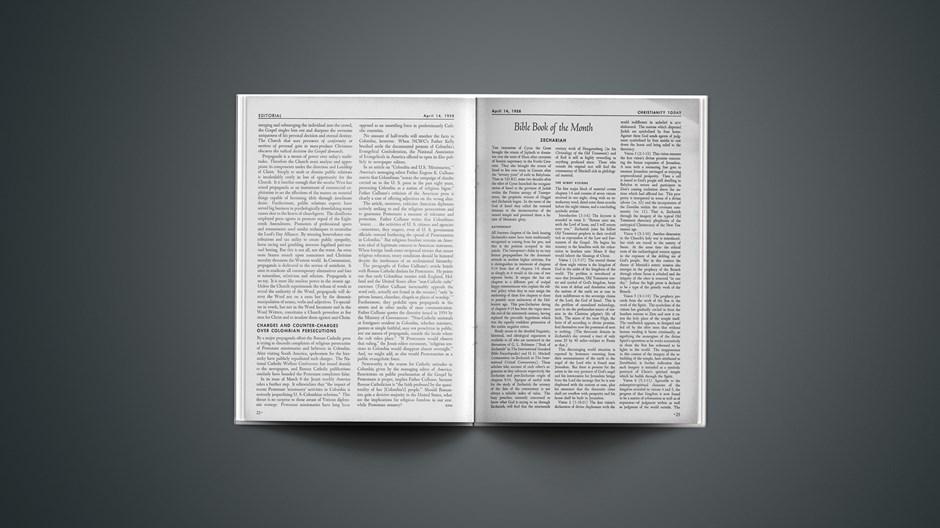 Bible Book of the Month: Zechariah