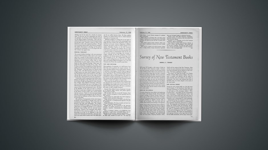 Survey of Old Testament Books 1958