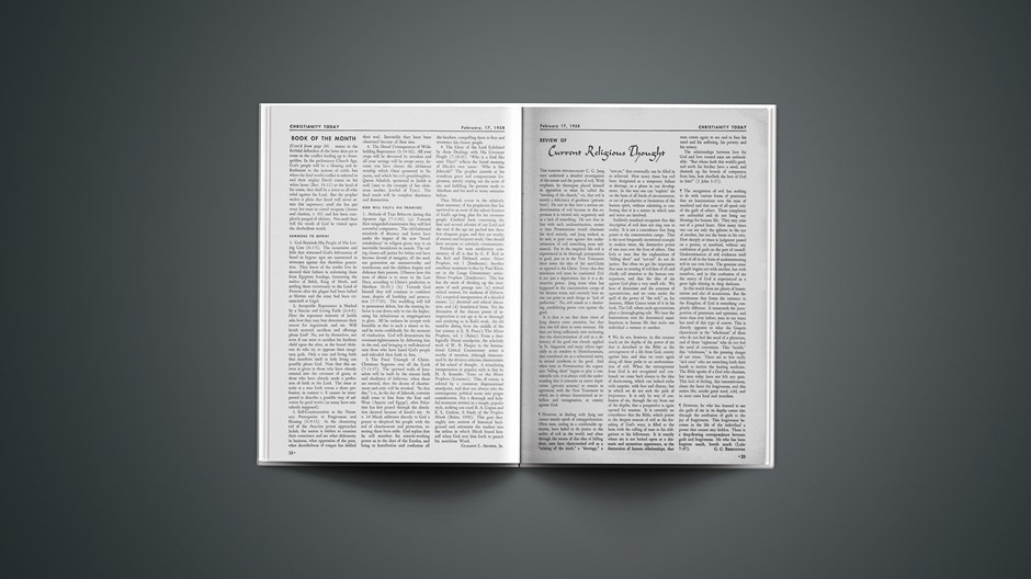 Review of Current Religious Thought: February 17, 1958