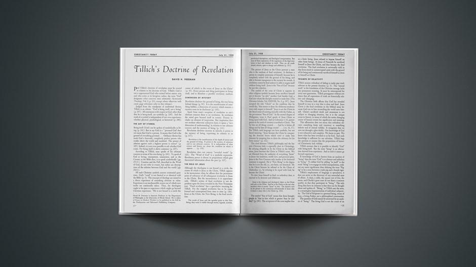 Tillich's Doctrine of Revelation