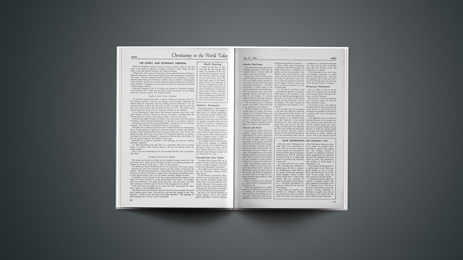 The Clergy and Economic Freedom