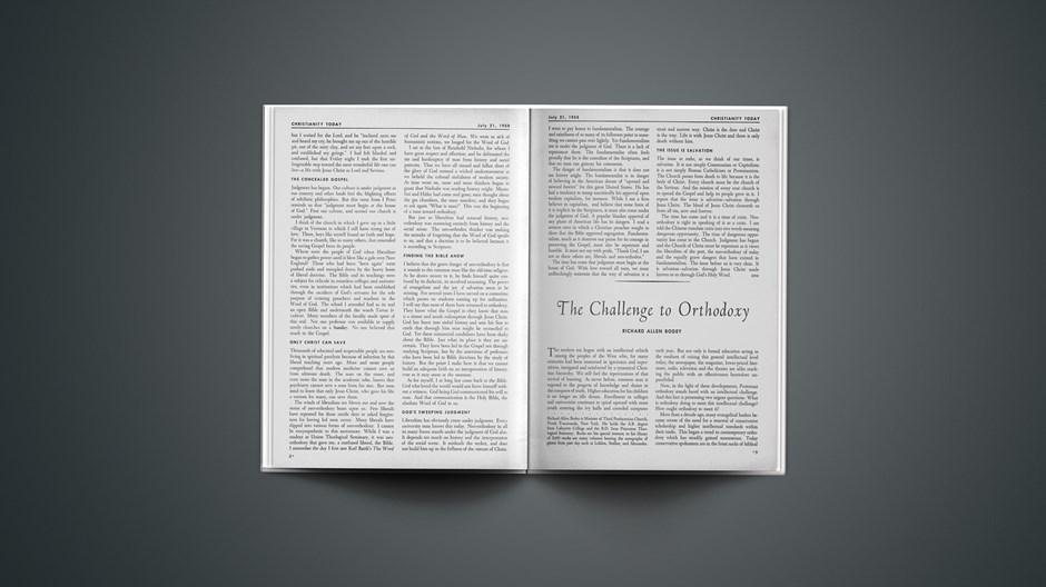 The Challenge to Orthodoxy