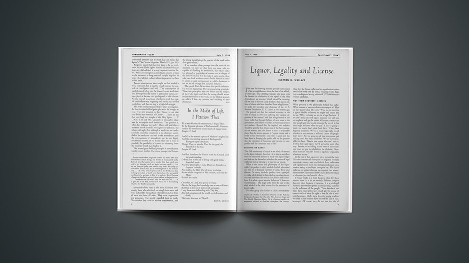 Liquor, Legality and License