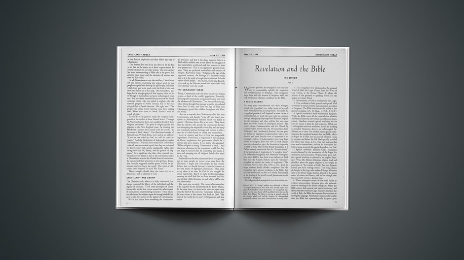 Revelation and the Bible (Part II)