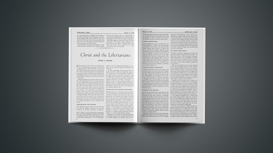 Christ and the Libertarians