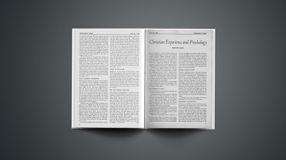 Christian Experience and Psychology