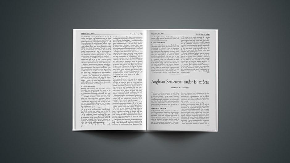 Anglican Settlement under Elizabeth